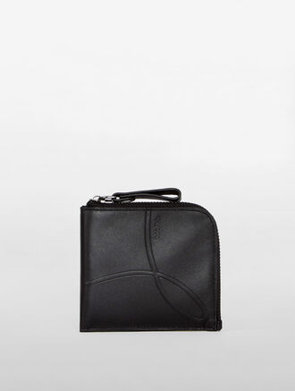 CALVIN KLEIN OMEGA DEBOSS ZIP AROUND WALLET