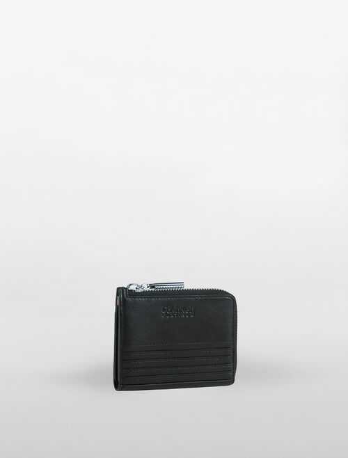 CALVIN KLEIN L-ZIP WALLET IN MOTO STITCH