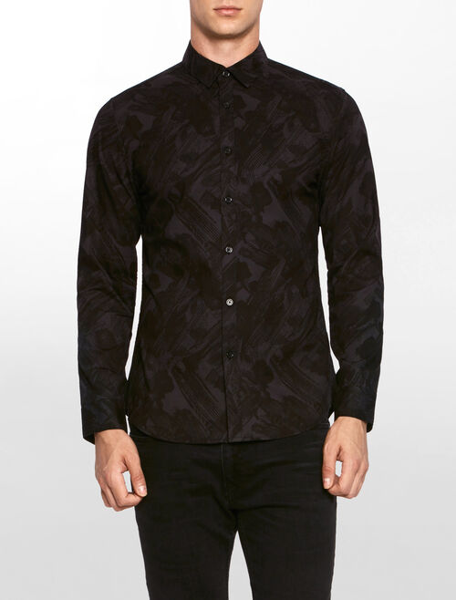 CALVIN KLEIN ALL OVER PRINTED SLIM SHIRT