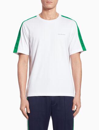 CALVIN KLEIN SIDE STRIPE LOGO 티셔츠