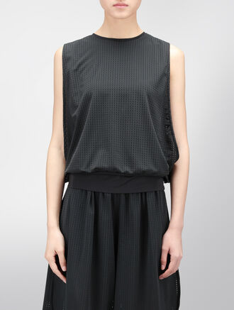 CALVIN KLEIN MESH LAYER SLEEVELESS TOP