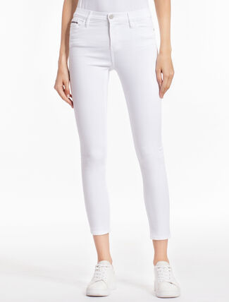 CALVIN KLEIN GREAT WHITE HIGH-RISE SKINNY JEANS