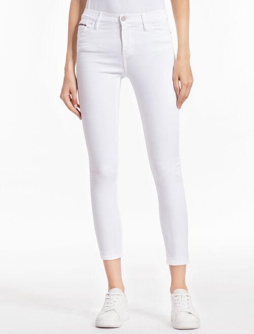 CALVIN KLEIN GREAT WHITE 高腰緊身牛仔褲