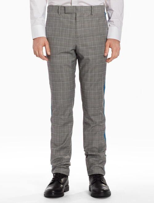 CALVIN KLEIN Checked pants with stripes