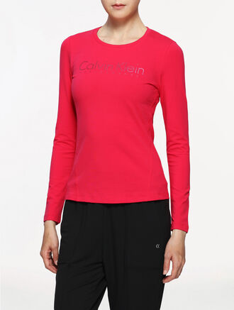 CALVIN KLEIN LOGO LONG SLEEVES TEE