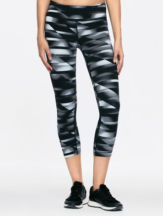 CALVIN KLEIN CROP LEGGING WITH MESH