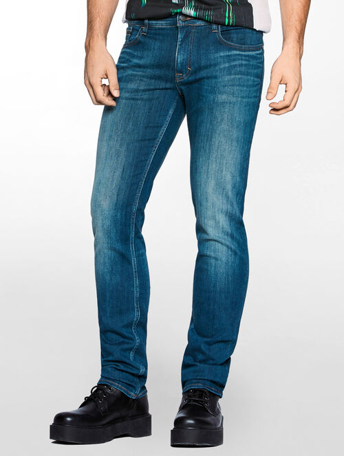 CALVIN KLEIN DARK REVIVAL SLIM STRAIGHT JEANS