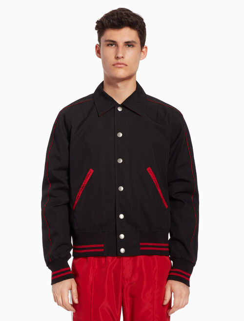 CALVIN KLEIN Woven jacket with piping