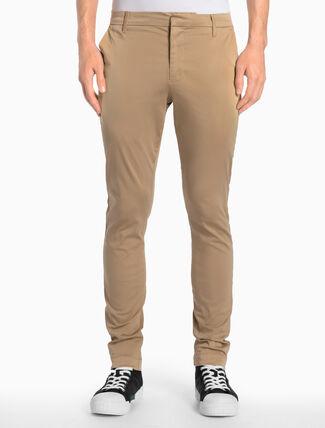 CALVIN KLEIN 斜紋布長褲(合身版型)