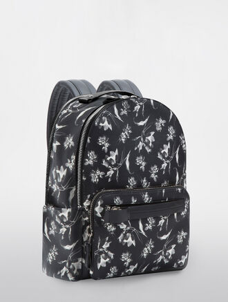 CALVIN KLEIN FLORAL EXPOSURE PRINT  MEDIUM BACKPACK