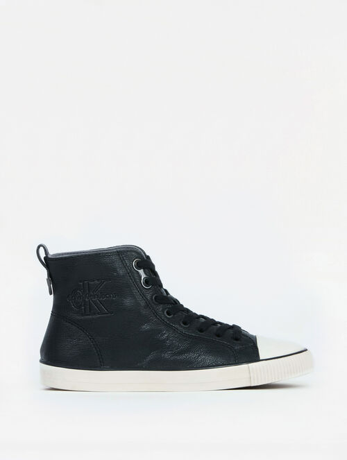CALVIN KLEIN DORIELLE HIGH TOP LEATHER SNEAKER