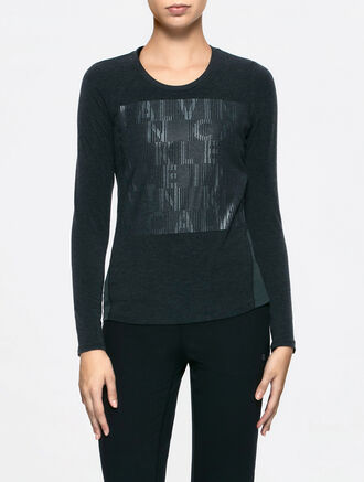 CALVIN KLEIN GRAPHIC LONG SLEEVES TEE WITHMESH