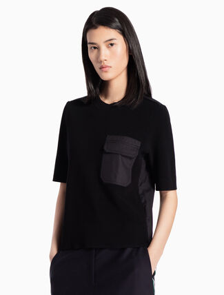 CALVIN KLEIN KNITTED MID-SLEEVE TOP