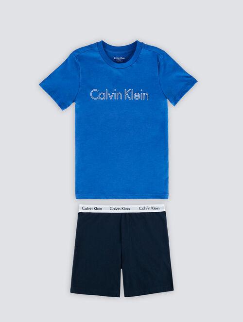 CALVIN KLEIN MODERN COTTON BOYS PAJAMA SET