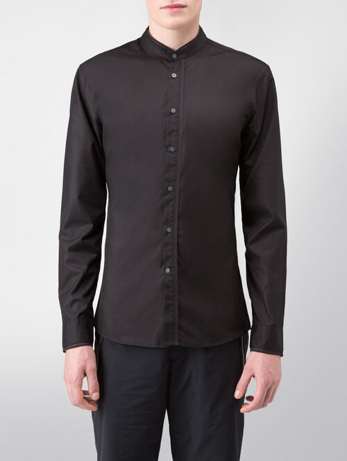CALVIN KLEIN REFINED POPLIN LONG SLEEVES SHIRT WITH MESH TAPE( SA-XTREME FIT )