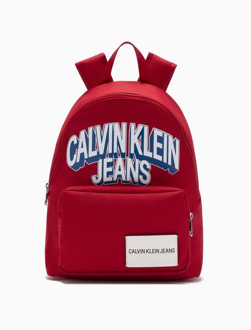 CALVIN KLEIN 여아용 프린트 캠퍼스 백팩