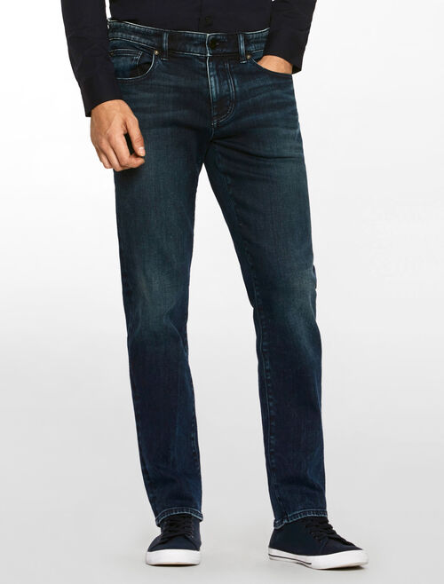CALVIN KLEIN SATEEN DARK WASH BODY JEANS