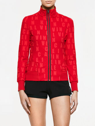 CALVIN KLEIN CK ALL OVER PRINT SWEAT JACKET