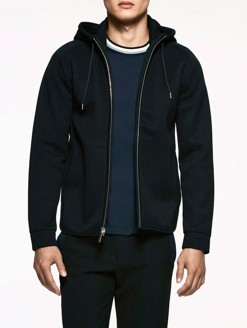 CALVIN KLEIN DOUBLE FACED HOODED JACKET