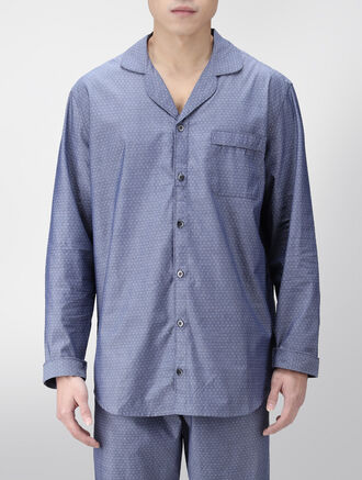 CALVIN KLEIN CHAMBRAY SLEEP WOVEN TOP