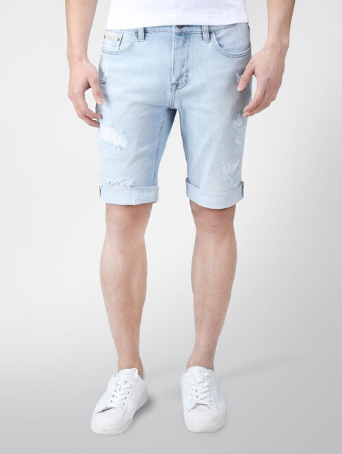 CALVIN KLEIN ICE BLAST SLIM DENIM SHORT