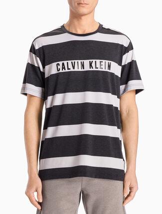 CALVIN KLEIN SHORT-SLEEVE TEE WITH STRIPES