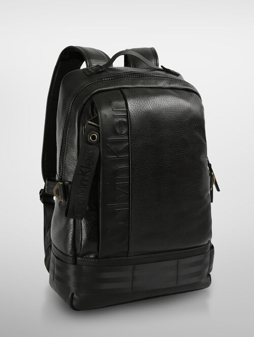 CALVIN KLEIN PILOT LEATHER CAMPUS BACKPACK
