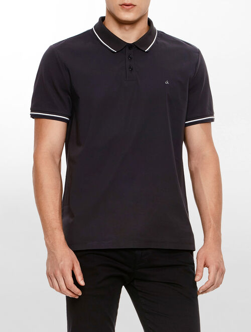 CALVIN KLEIN COTTON PILLIT COLOR TIPPED POLO SHIRT