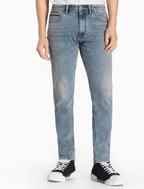 CALVIN KLEIN MANCHESTER BLUE STRAIGHT TAPERED JEANS
