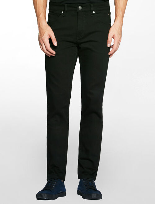 CALVIN KLEIN CORE BLACK STRETCH SCULPTED SLIM JEANS