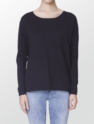 CALVIN KLEIN CHARLOTTE COTTON CASHMERE SWEATER