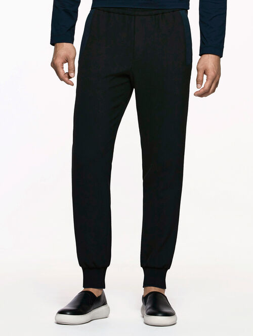 CALVIN KLEIN MODERN STRETCH PANTS WITH SCULPTED DOUBLE FACE JERSEY TRIM