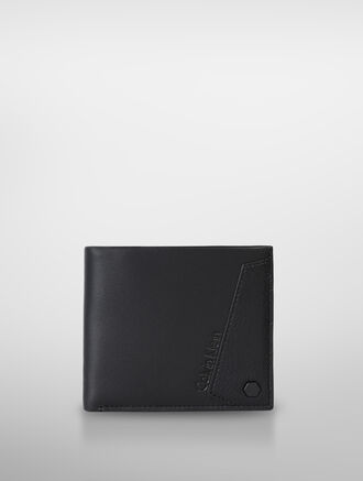 CALVIN KLEIN TWO TONED TEXTURE HORIZONTAL BILLFOLD