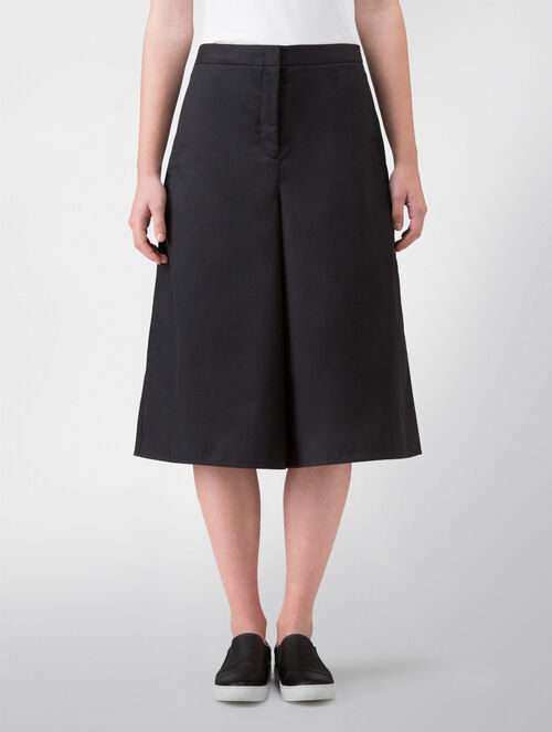 CALVIN KLEIN SOAPY TWILL CROPPED WIDE PANTS