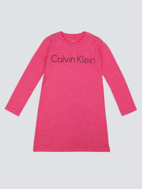CALVIN KLEIN KIDS LOGO MANIA NIGHTDRESS - GIRLS