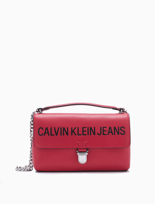 CALVIN KLEIN Sculpted Logo Satchel
