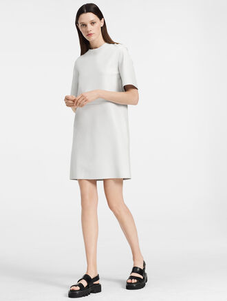 CALVIN KLEIN MATTE NAPPA T-SHIRT DRESS