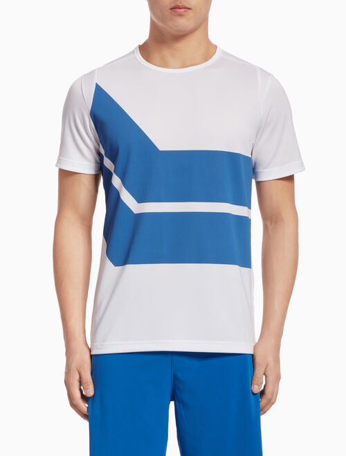 CALVIN KLEIN DIAGONAL STRIPE SHORT-SLEEVE TEE