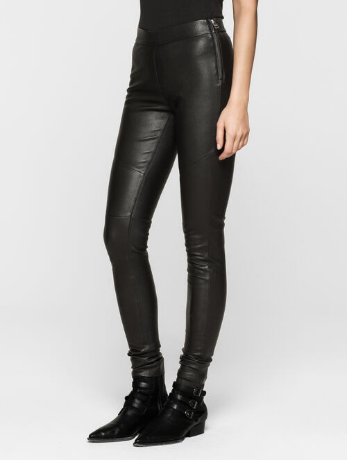 CALVIN KLEIN REBEL EDGE LEATHER LEGGINGS