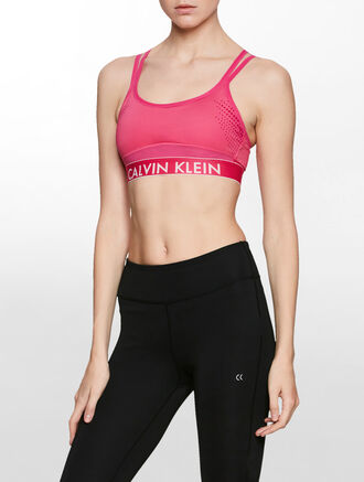 CALVIN KLEIN WORK OUT ESSENTIAL SPORTS BRA WITH CUP