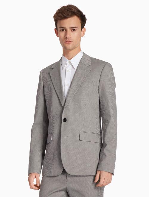 CALVIN KLEIN 마이크로 새발 격자무늬 수트 재킷