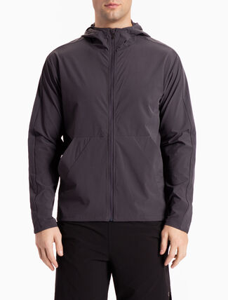 CALVIN KLEIN HOODED WIND JACKET WITH BACK LOGO