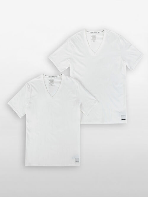 CALVIN KLEIN CALVIN KLEIN ID COTTON V-NECK TEE ( 2 PACKS )