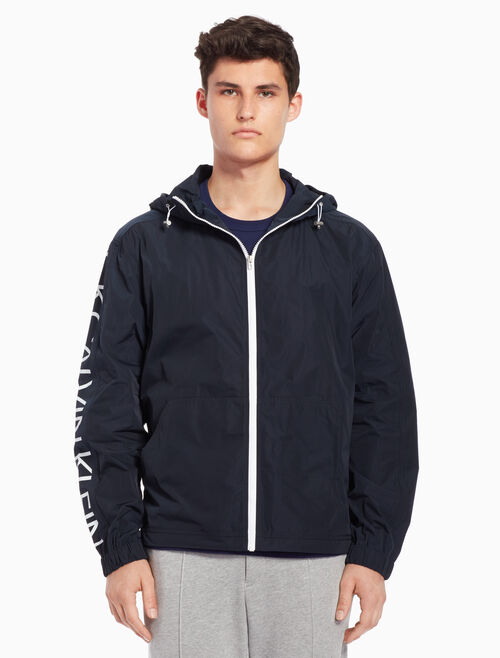 CALVIN KLEIN Nylon stand-up collar jacket