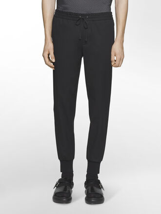 CALVIN KLEIN MATTE PIQUE PANTS WITH SWEATER TRIM( PRESTON FIT )