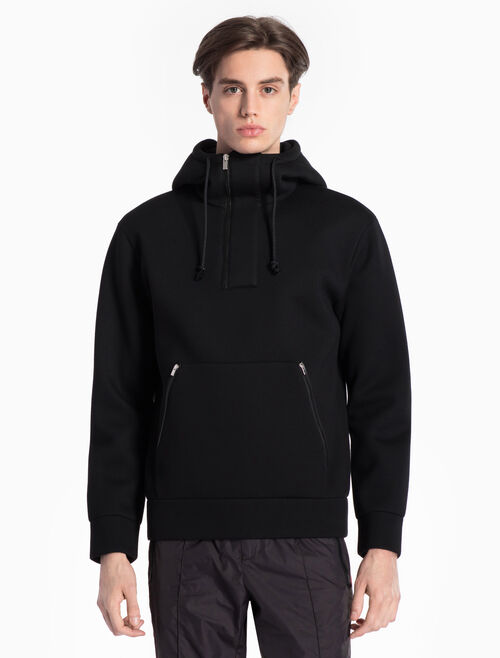 CALVIN KLEIN SCULPTED DOUBLE FACE JERSEY LONG SLEEVES ZIP UP SWEATSHIRT