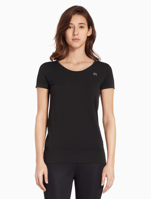 CALVIN KLEIN SEAMLESS SCOOP BACK TEE