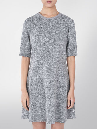 CALVIN KLEIN RAANA TWEED WOOLMIX DRESS