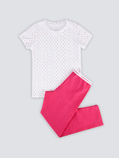 CALVIN KLEIN MODERN COTTON GIRLS PAJAMA SET