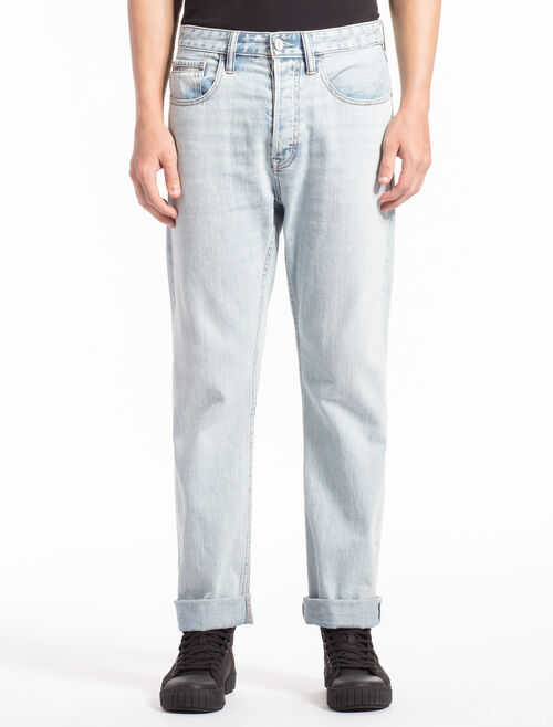 CALVIN KLEIN BERLIN BLUE STRAIGHT SELVEDGE JEANS IN SLIM FIT